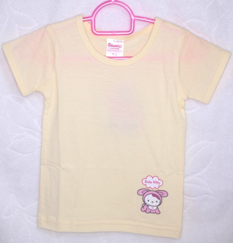 HELLO KITTY BABY COTTON TOP / T-SHIRT - KT 22012 YELLOW