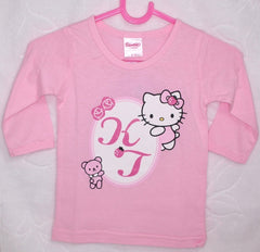 HELLO KITTY BABY COTTON LONG SLEEVE TOP - KT 22014 PINK