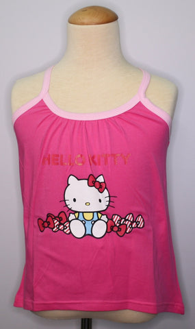 HELLO KITTY KIDS COTTON SLEEVLESS TOP KT 88252 -DARK PINK