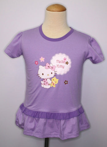 HELLO KITTY KIDS COTTON TOP / T-SHIRT - KT 88251 PURPLE