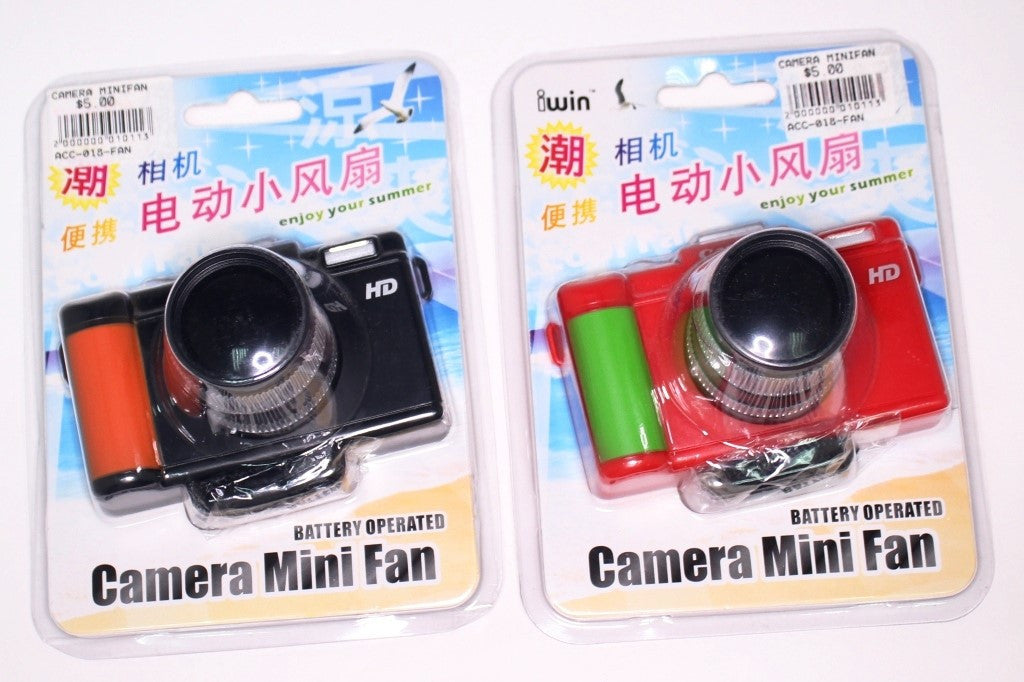 CAMERA DESIGN MINI PORTABLE FAN [BLACK / RED / PINK]