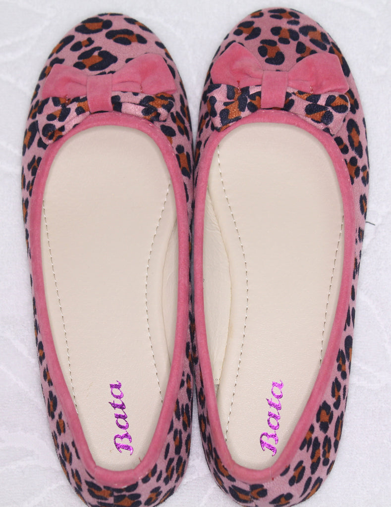 LEOPARD BALLERINAS SHOES (PINK)