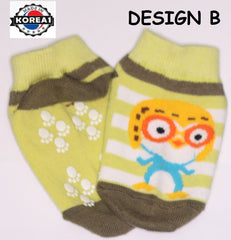 PORORO BABY SOCKS- ANTI-SLIP [MADE IN KOREA]