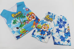 PORORO SLEEVELESS SET- BEACH [AGE 5-6] [MADE IN KOREA]