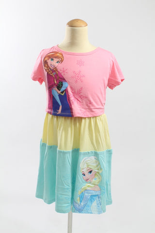 FROZEN ELSA & ANNA COLOURFUL DRESS DP-3667-38