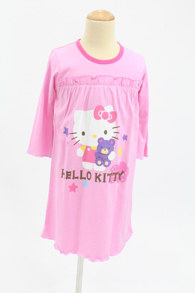 HELLO KITTY KIDS SLEEPWEAR LONG SLEEVE DRESS PINK- KT 88178
