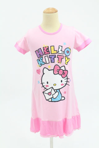HELLO KITTY KIDS PINK SLEEPWEAR DRESS- KT 88222