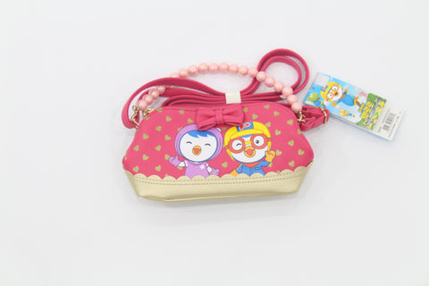 PORORO & PETTY GIRLS MINI SLING BAG- DARK PINK [MADE IN KOREA]
