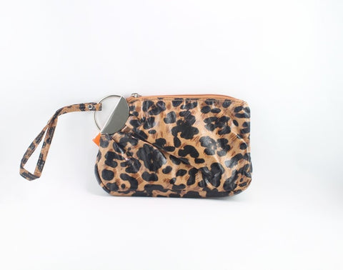 LEOPARD CLUTCH WITH STRAP