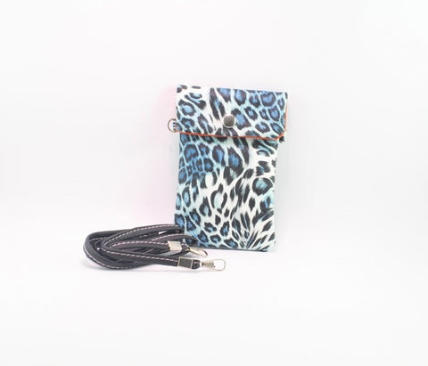 LEOPARD POUCH WITH STRAP