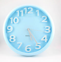 WALL CLOCK- BIG (LIGHT BLUE)