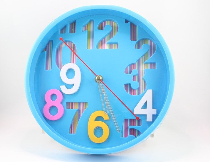 WALL CLOCK - MEDIUM (BLUE OR PINK)
