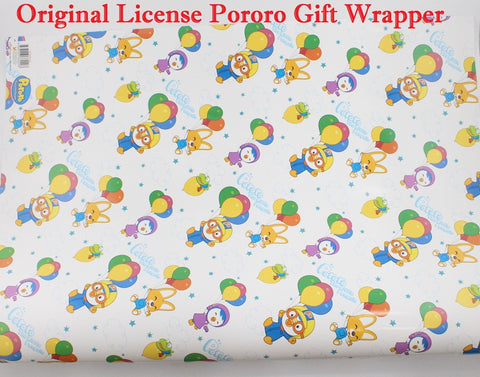PORORO GIFT WRAPPING PAPER- WHITE [1 PC] GIFT WRAPPER