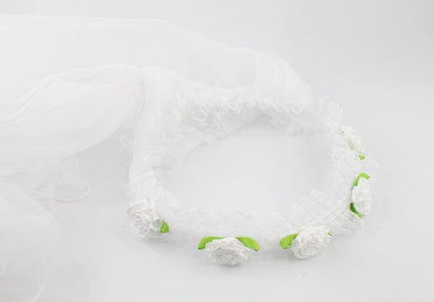 HAIR BAND- WHITE LONG