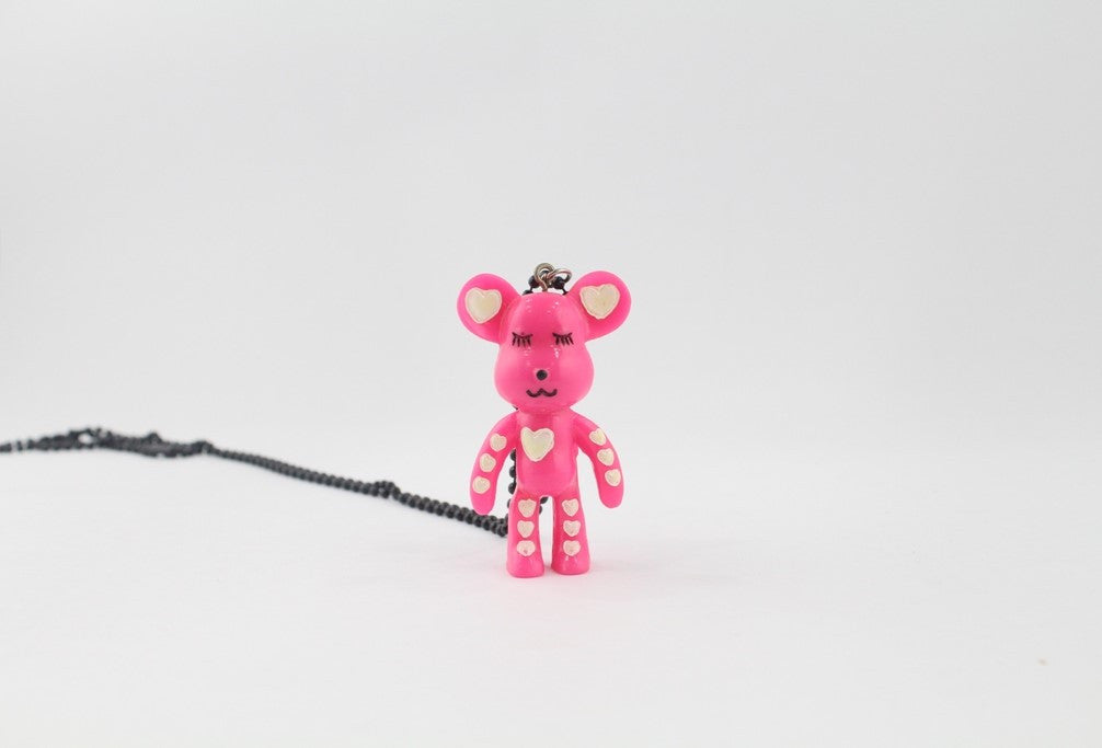 NECKLACE-PINK BEAR