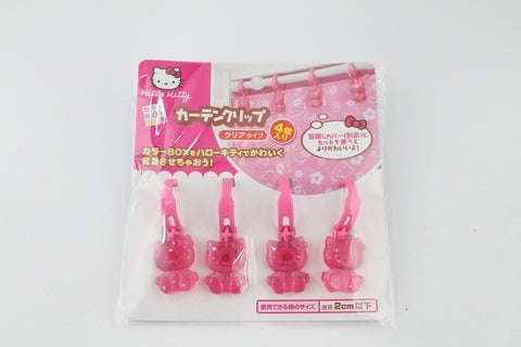 HELLO KITTY CURTAINS CLIPS TO COVER THE SHELVES / CUPBOARDS [4 PCS /PACK]