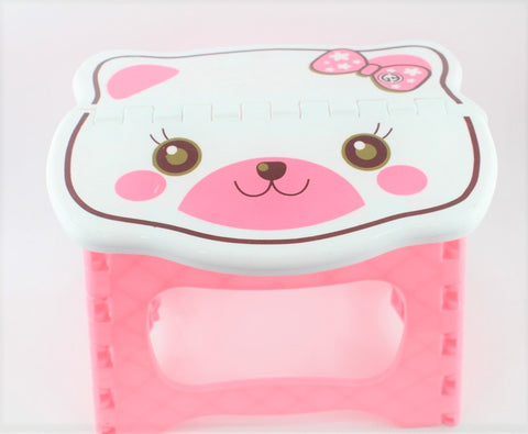 BEAR FOLDING CHAIR - PINK