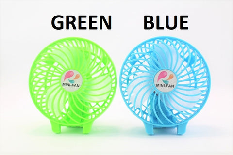 PORTABLE MINI FAN [RECHARGEABLE]- WHITE / BLUE / GREEN
