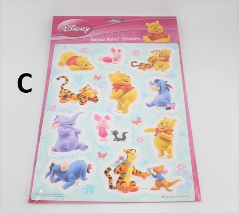 WINNIE THE POOH RAISED RELIEF STICKERS (LARGE)