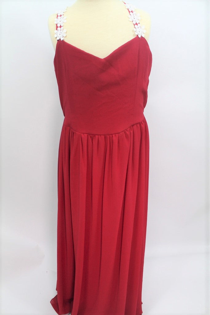 DRESS-RED LONG (FREE SIZE)