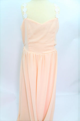 DRESS-BEIGE LONG (FREE SIZE)