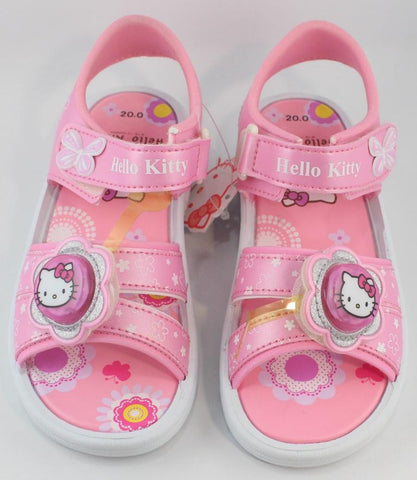 HELLO KITTY KIDS SANDALS-PINK WITH FLASHING LIGHTS K 812419 [MADE IN TAIWAN]
