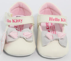 HELLO KITTY BABY SHOES- RIBBON WHITE K 3164 [MADE IN TAIWAN]