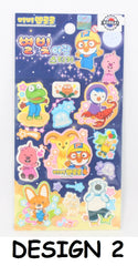 PORORO STICKERS- GLOW IN DARK (1 PC) [MADE IN KOREA]