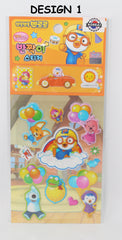 PORORO STICKERS -GLITTER (1 PC) [MADE IN KOREA]