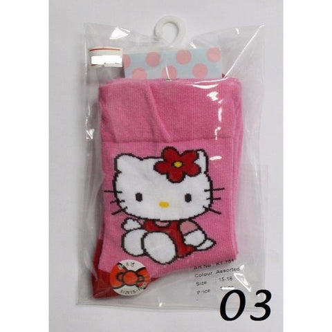 HELLO KITTY KIDS COTTON SOCKS KT- 751 (15-18cm) [AGE 5-8] [MADE IN TAIWAN]