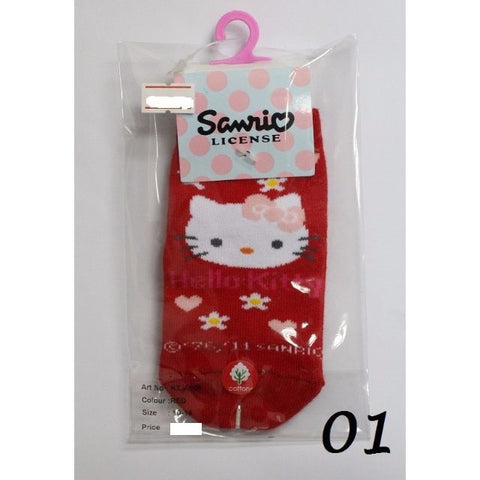 HELLO KITTY ANTI-SLIP KIDS SOCKS KT- A506 (10-14CM) [AGE 1-4] [MADE IN TAIWAN]