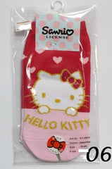 HELLO KITTY COTTON SOCKS  KT- A516 (15-24cm) [AGE 5-15] [MADE IN TAIWAN]