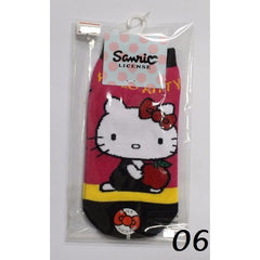 HELLO KITTY COTTON SOCKS KT- A519 (15-24CM) [AGE 5-15] [MADE IN TAIWAN]