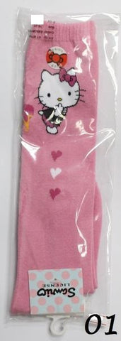HELLO KITTY COTTON LONG SOCKS- KT-B714 (19-21cm) [AGE 9-12] [MADE IN TAIWAN]