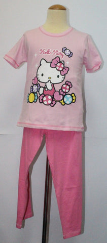 HELLO KITTY KIDS T-SHIRT / TEE & PANTS SET- KT 88183 PINK