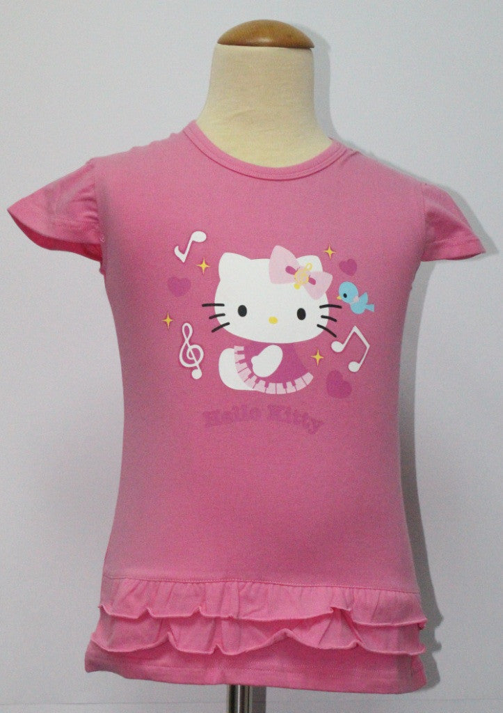 HELLO KITTY KIDS COTTON TOP/ T-SHIRT - KT 88232 DARK PINK