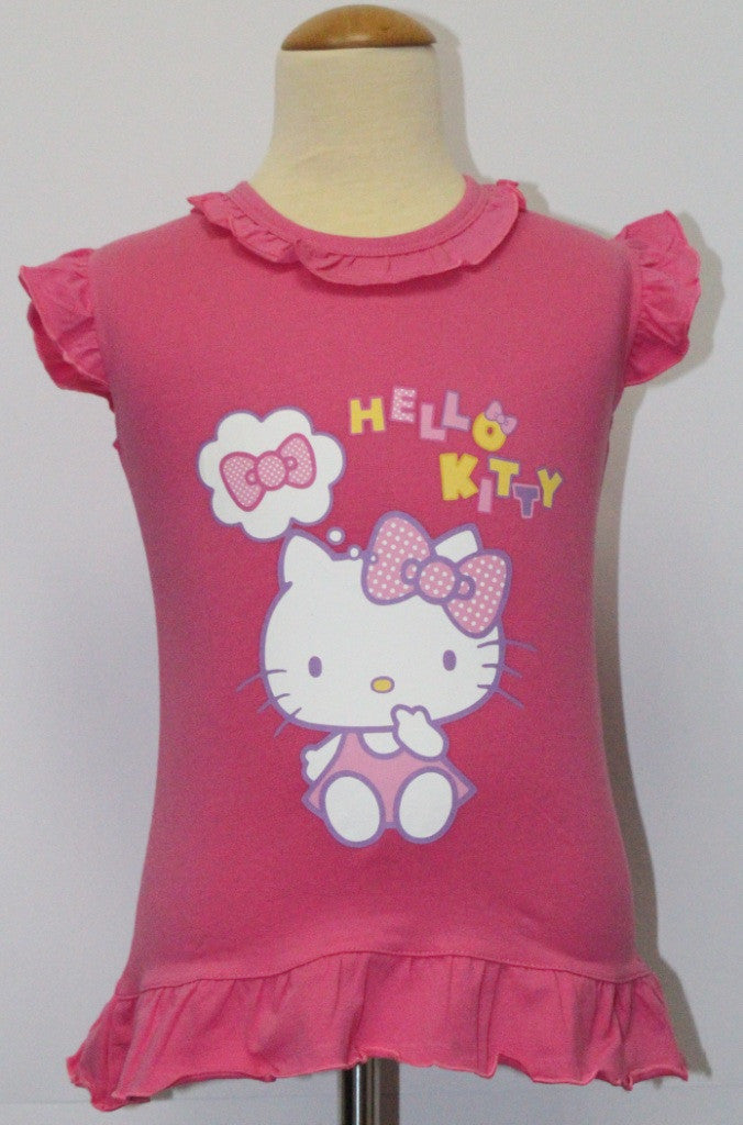 HELLO KITTY KIDS COTTON TOP / T-SHIRT- KT 88234 DARK PINK