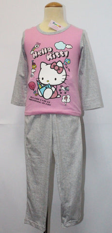 HELLO KITTY SLEEPWEAR LONG SLEEVE SET- KT 88243 PINK / GREY
