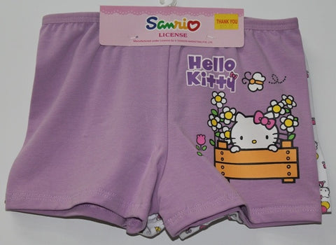HELLO KITTY KIDS COTTON BOXERS 2 PC SET -KT 00085-1 PURPLE/WHITE
