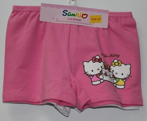 HELLO KITTY KIDS COTTON BOXERS 2 PC SET -KT 00085-2 PINK/WHITE