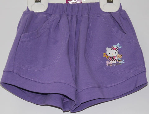 HELLO KITTY KIDS SHORTS WITH POCKETS- PURPLE KT 00121