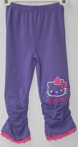 HELLO KITTY FACE KIDS COTTON 3/4 PANTS - PURPLE KT 88200-4
