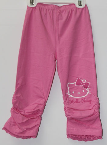 HELLO KITTY FACE KIDS COTTON 3/4 PANTS- PINK KT 88200-6
