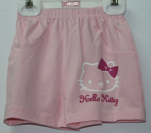 HELLO KITTY KIDS SHORTS- LIGHT PINK KT 88201-2
