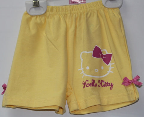 HELLO KITTY KIDS SHORTS- YELLOW KT 88201-3