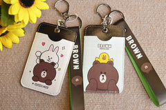 LINE BEAR / CONY CARD HOLDER WITH STRAP