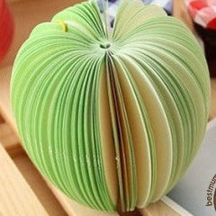APPLE 3D MEMO PAD - GREEN APPLE / RED APPLE