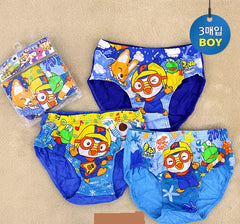 PORORO KIDS UNDERWEAR FOR BOYS (3 PC SET) [From Korea]