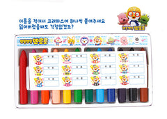 PORORO CRAYONS (12 COLOURS) [MADE IN KOREA]