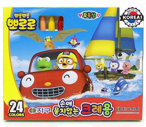 PORORO CRAYONS (24 COLOURS) [MADE IN KOREA]